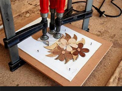 معرق کاری چوب و کاشی در قم